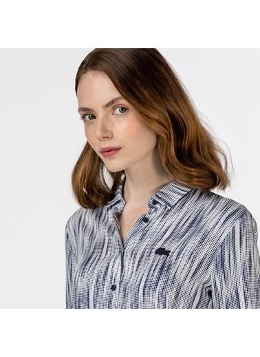 Lacoste Kadın Desenli Gömlek CF0121.21L Lacivert